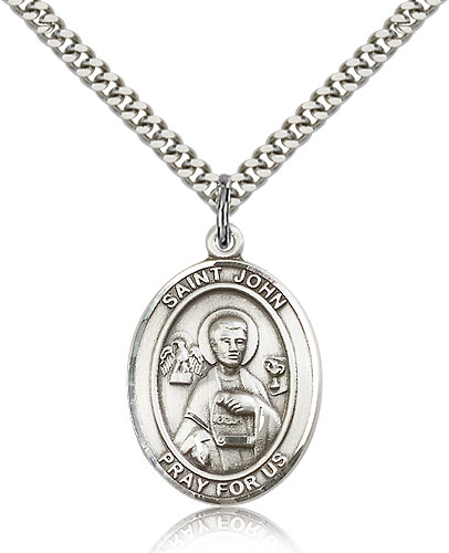 ST. JOHN the Apostle Sterling Silver