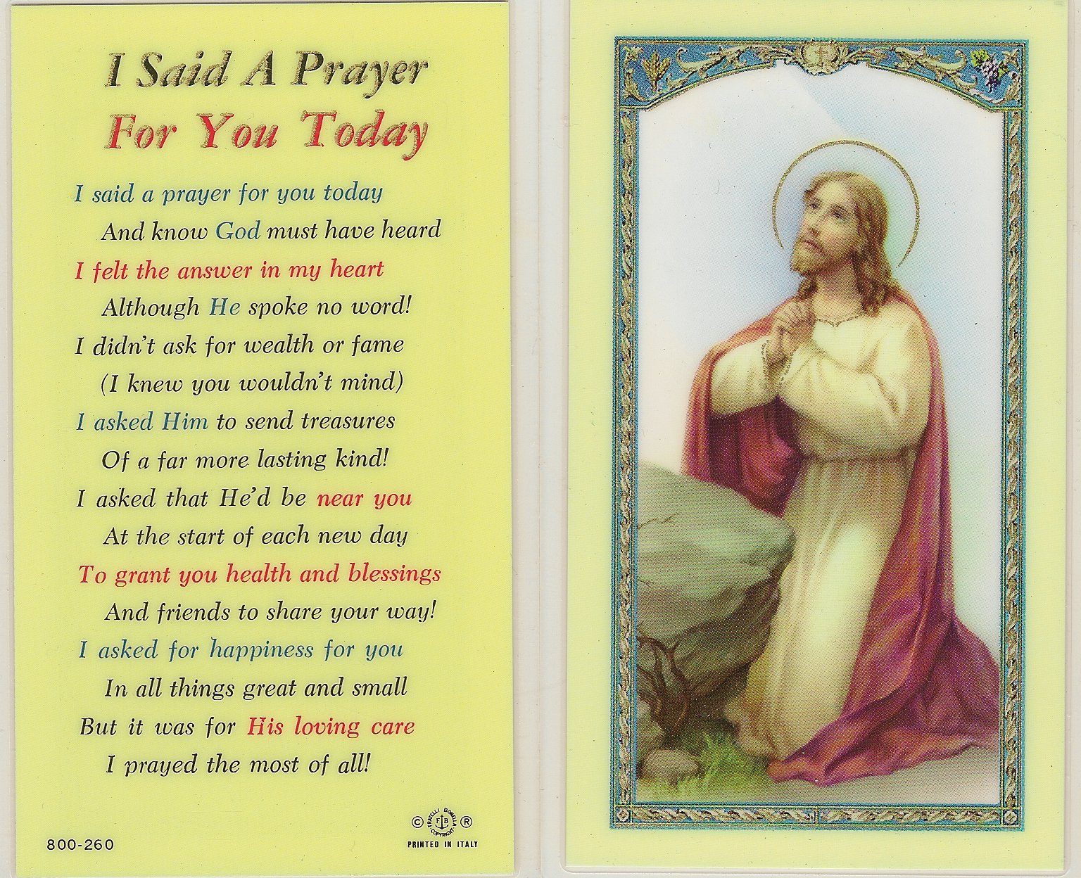 image about I Said a Prayer for You Today Printable known as Items