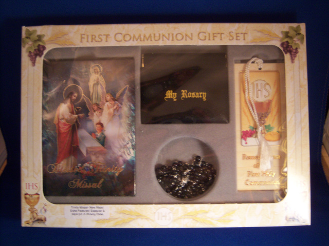 Boy First Communion Blessed Trinity Missal Gift Set