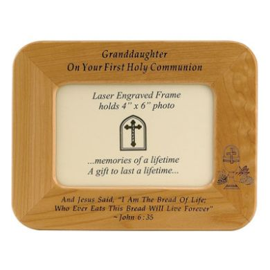 Granddaughter First Communion Picture Frame