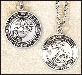 St. Michael Marines Medal and Chain