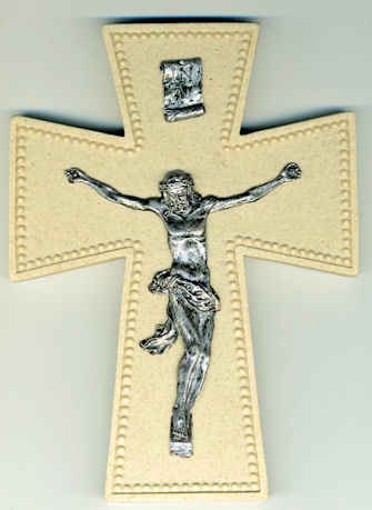 "6"" Resin Wall Crucifix"
