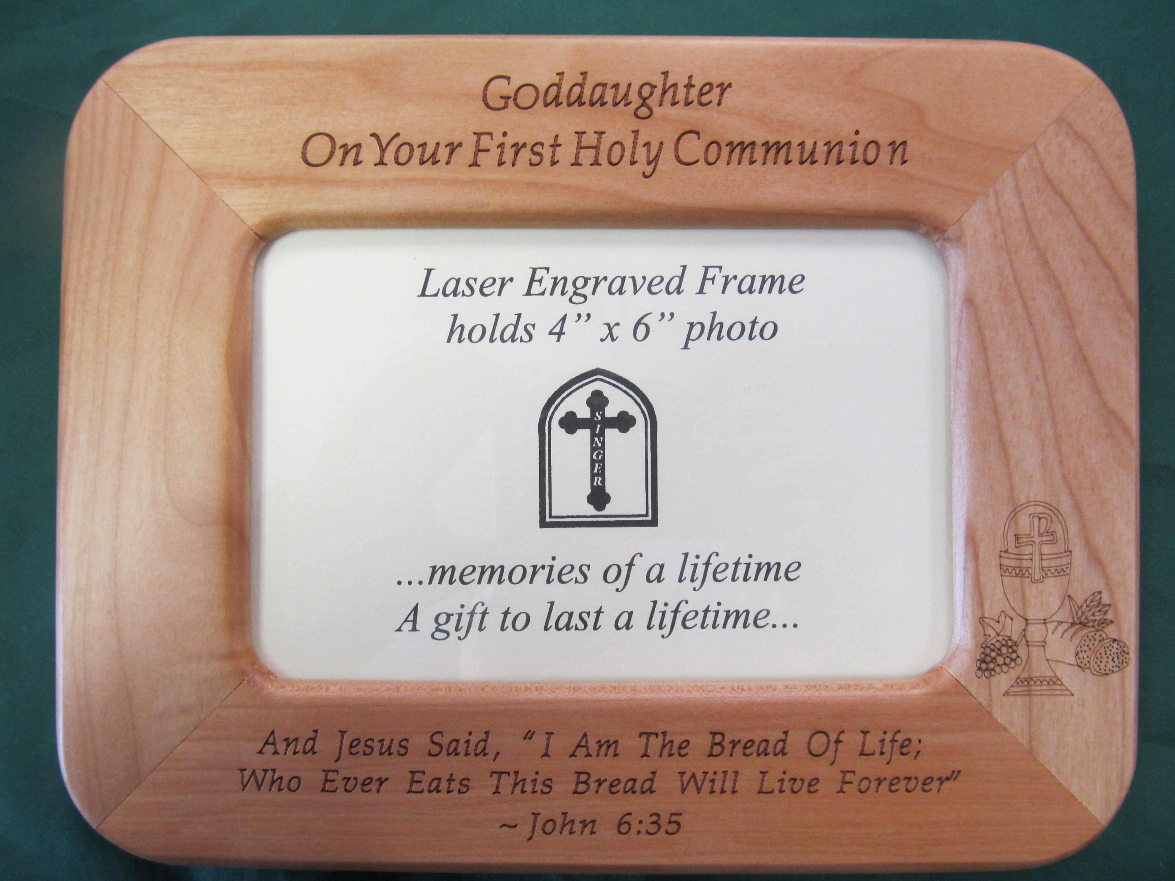 Goddaughter First Communion Frame
